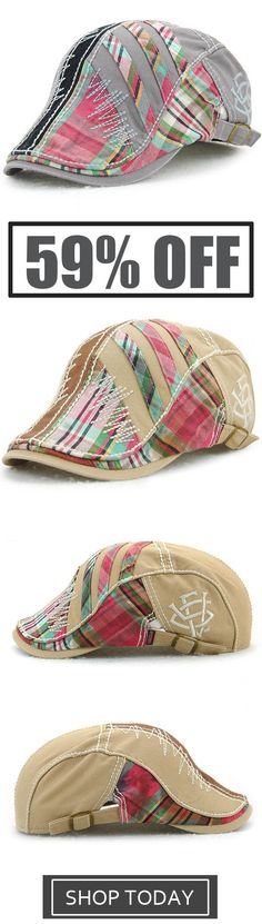 c2e77eb22c0 Unisex Cotton Stripe Washed Beret Caps
