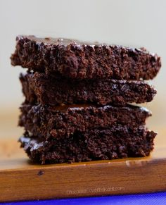 This easy-to-make recipe for homemade vegan brownies is ultra rich, fudgy, dangerously chocolatey… and even meat-eaters LOVE them!