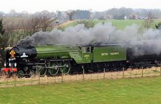 The Prince of Wales names the new Peppercorn class A1 steam locomotive, the…