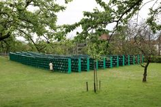 The outdoor library entitled Bookyard was built by Italian artist Massimo Bartolini for the Belgian art festival TRACK