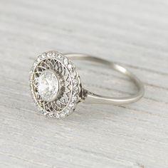 Image of .60 Carat Vintage Edwardian Diamond Engagement Ring