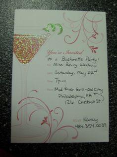 Bachelorette Party DIY Invites   Something Blu Diaries