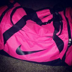 Pink Nike gym bag<3<3
