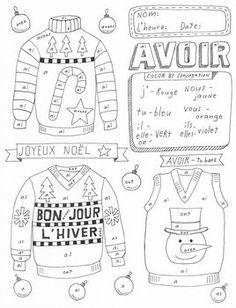 French shoe verb ~Vouloir ~boot verb chart ~No Prep