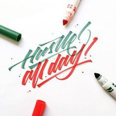 WEBSTA @ la.calligraphy - Hustle all day! Weekday or weekend! Always strive and prosper! ✨ // #typographyinspired #tyxca #calligraphy #handmade #lettering #sketch #thedesigntip #typespire #letteringco #california #la #art #design #goodtype #calligraphymasters #typegang #strenghtinletters #digitalart #typography #thedailytype #dailytype #typematters #todaystype #typedome #greattype #saturday #hustle #weekend