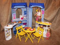 Bake Shop and Cafe with Dolls | eBay  Sweet Treats Barbie & Kelly