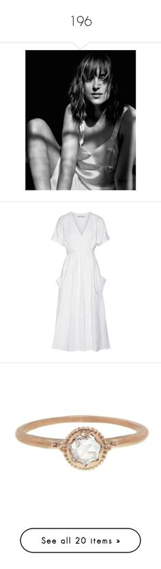 """196"" by pocahaunted666 ❤ liked on Polyvore featuring dresses, white, white tie dress, linen dress, kimono dress, wrap dresses, white midi dress, jewelry, rings and rose"