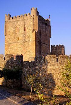 Torre de menagem do Castelo de Bragança, Trás-os-Montes, Portugal.