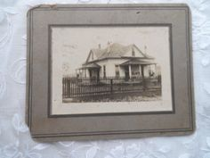 OLD - Real Picture- Photo-Photograph of Old House with Picket Fence- Charming Old Home- Welcome Home- Memories of Home- Great Old Picture