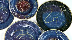 Constellation Dishes  •  Free tutorial with pictures on how to make a plate in under 120 minutes