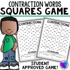 Help your students to truly understand contractions with this fun game. This contraction activity is a more than a worksheet. It help students learn about contractions, yet is fun to play again and again. Just add it into your literacy centers, Friday Fun Day, or Teaching Reading, Teaching Tools, Student Learning, Teaching Ideas, First Grade Words, First Grade Lessons, 2nd Grade Ela, Second Grade, Contraction Games