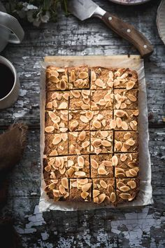 Ginger Almond Slice - Cook Republic #gingerrecipe #gingerslice #slicerecipe