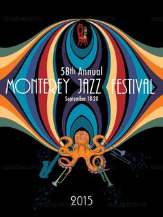 Monterey Jazz Festival Poster by FeliciaWP on CreativeAllies.com