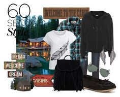 Cabin Getaway by kburton1971 on Polyvore featuring polyvore fashion style adidas Object Collectors Item rag & bone Minnetonka NLY Accessories Ray-Ban Universal Lighting and Decor clothing