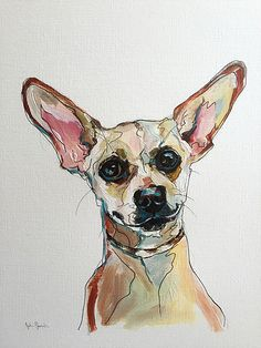 Pittsburgh Artist Pet Portraits - commission acrylic & ink caricatures