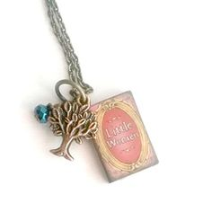 Little Women Necklace Mini Book with family tree charm Handmade by Aunt Matilda -- Click image to review more details.Note:It is affiliate link to Amazon.