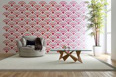 Sticker Mural géométrique sticker mural rétro par WallStarGraphics
