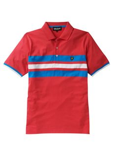 Lyle and Scott Marl Striped Polo Shirt