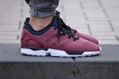 "A First Look at the adidas Originals ZX Flux NPS ""Core Burgundy"""