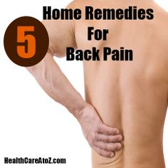 5 Beneficial Home Remedies For Back Pain