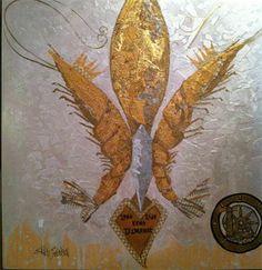 King D'Iberville : Krewe Kustom for GCCA-Fleur De lis-Mardi Gras Art- Mississippi Artist