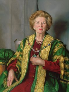 Nelson Shanks ( American – - Portrait of Margaret Thatcher 1999 Margaret Thatcher, Michener Art Museum, The Iron Lady, Classical Realism, Portrait Art, Portraits, Portrait Paintings, Cool Paintings, Realistic Paintings