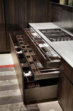 Dream worthy kitchen storage. As usual, the Europeans know how to make the most of limited space