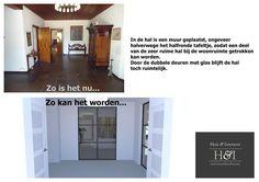 Digitale verkoopstyling   Huis & Interieur. De hele grote hal wordt iets gezelliger gemaakt.
