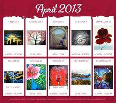 Check out the April calendar - online now!