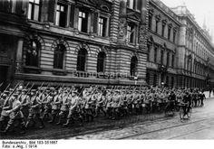 Reservisten in Hamburg. WWI
