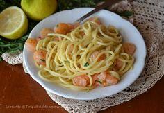 Spaghetti con gamberetti profumati al limone,un primo piatto di pesce facile,veloce e delizioso!