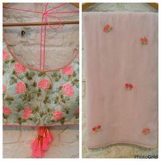 Sea green blouse n pastel pink sari. Indian Suits, Indian Attire, Indian Ethnic Wear, Indian Dresses, Blouse Patterns, Saree Blouse Designs, Sari Blouse, Saree Dress, Beautiful Blouses
