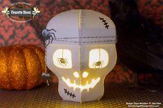(I) (L)ove (D)oing (A)ll Things Crafty!: 3D Halloween Skull Treat Box/Luminary