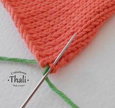 Un point que l'on utilise pour assembler de façon invisible 2 pièces tricotées. Il s'adapte à tous les points tricotés. Facile.