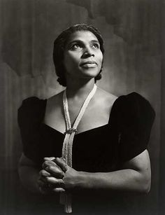 Portrait of Marian Anderson by Yousuf Karsh, Photograph, 1945 Famous Photographers, Portrait Photographers, Ashley Model, Marian Anderson, Yousuf Karsh, National Portrait Gallery, Opera Singers, Black And White Portraits, Road Trip Usa