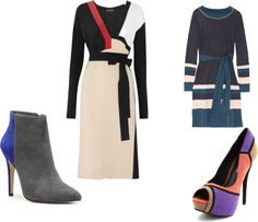 Cool winter fashions: Color Blocked!