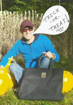 What to put all that Halloween candy stash in??? That's simple: Add a bewitching style to your costume with a year-round vegan-friendly tote. Two of my FAVs: The Torio and Raylan bags by Matt & Nat (www.mattandnat.com) and the Bjorn Tote by Olsen Haus (www.olsenhaus.com). For more fun Halloween party tips PLUS a Boo-ffet menu, check out: http://vegnews.com/articles/page.do?pageId=5082=2#