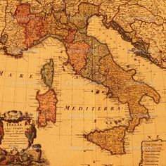 Antique map of Italy — Stock Photo © Malgorzata_Kistryn #8307028