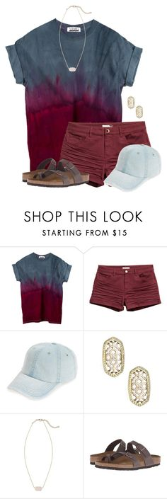 """ew..."" by flroasburn ❤ liked on Polyvore featuring H&M, Fantasia, Kendra Scott and Birkenstock"