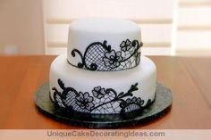white cake decorating    Black and White Delight — Unique Cake Decorating Ideas