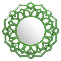 Green Wall Mirror
