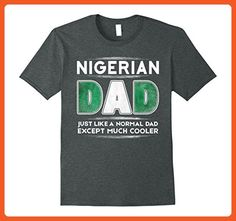 Mens Nigerian Dad is Much Cooler Father's Day T-Shirt Flag XL Dark Heather - Relatives and family shirts (*Partner-Link)