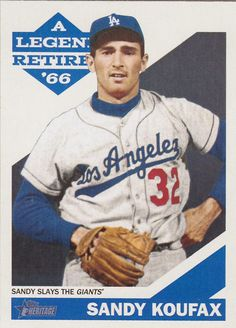 Dodgers Blue Heaven: 2015 Topps Heritage - Sandy Koufax - A Legend Retires Subset * Slays the Giants Dodgers Nation, Dodgers Fan, Dodgers Baseball, Old School Pictures, America's Favorite Pastime, Dodger Game, Sandy Koufax, Baseball Park, Baseball Pictures