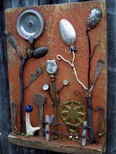 Assemblage art SALVAGE GARDEN II Outsider art via Etsy.