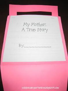 Mother's Day purse / Father's Day briefcase containing kids' answers to questions about their parents
