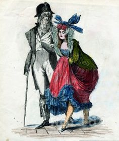 Incroyables and Merveilleuse: These men and women were political young people who dressed in an aristocratic way during the French revolution to mock the outlandish fashion of Kind Louis XVI