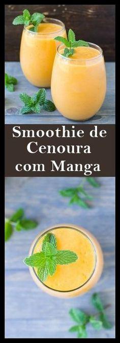 Suco Antioxidante Com Manga e Cenoura #suco #juice #receita #dicas #manga #cenoura #saude #salud #health
