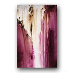 Plum Purple Painting on Canvas Abstract Art by heatherdaypaintings, $275.00