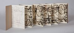 Handmade Books Artists   Tangled Dreams, 2012 Artist Book with wrap. 8.25 x 8.13 x .33 inches