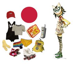 """""""get the cool shoeshine"""" by paciphier ❤ liked on Polyvore featuring Converse, Out of Print, Topshop, VPL and gorillaz"""